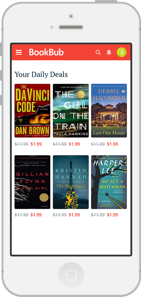 BookBub: Get ebook deals, handpicked recommendations, and